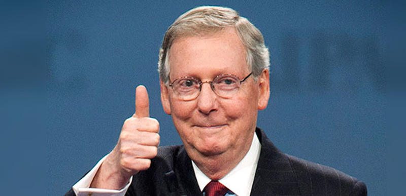 Mitch McConnell just set the world on FIRE