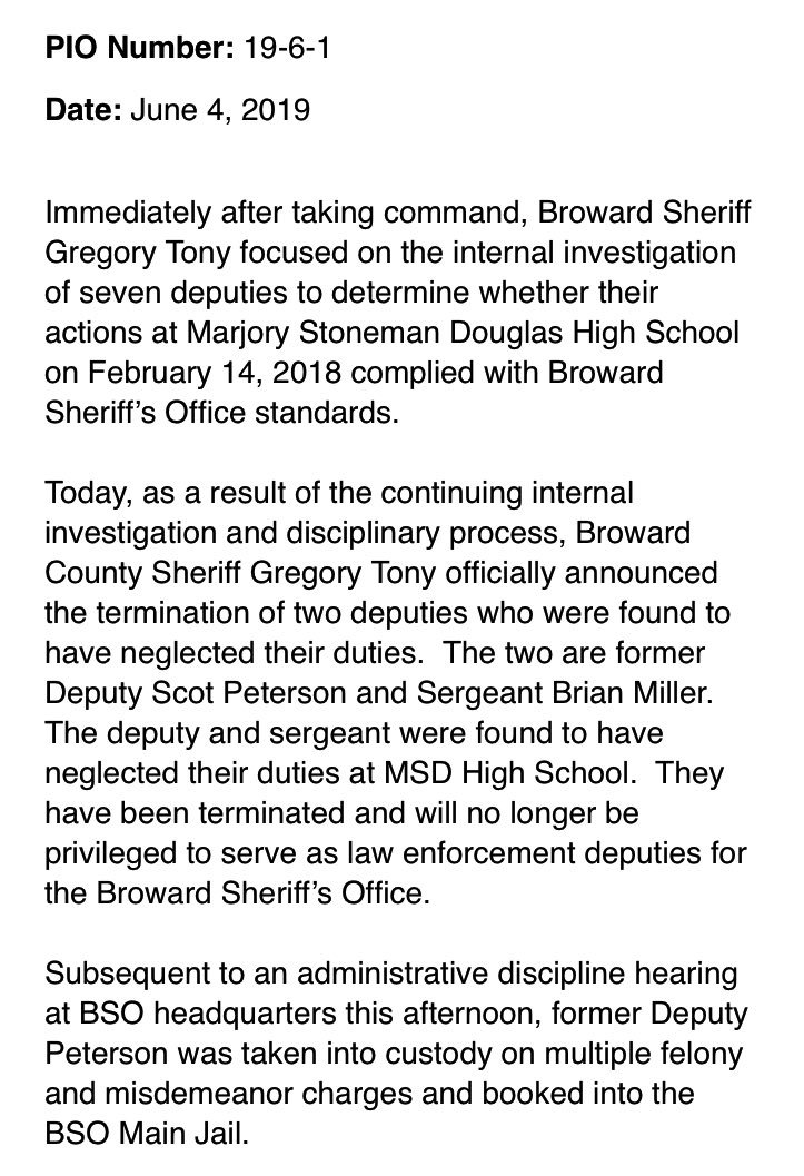 BREAKING: Broward Deputy Scot Peterson just ARRESTED for his