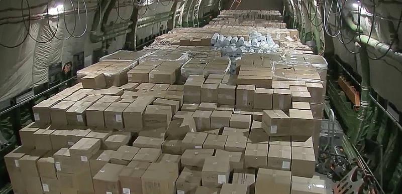 Putin sends huge planeload of medical supplies to the US