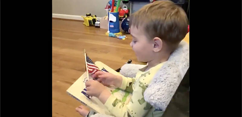 WATCH: Michael Flynn posts video of his grandson saying the Pledge of Allegiance after DOJ drops his case!