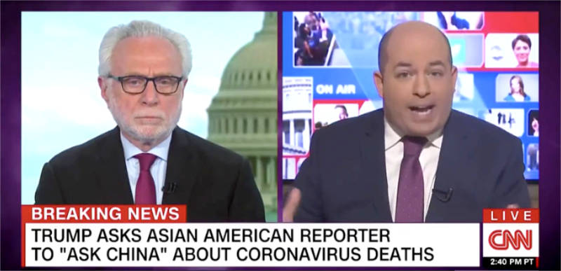 CNN's Wolf Blitzer and Brian Stelter call Trump remarks to CBS reporter 'ugly' and 'racist'