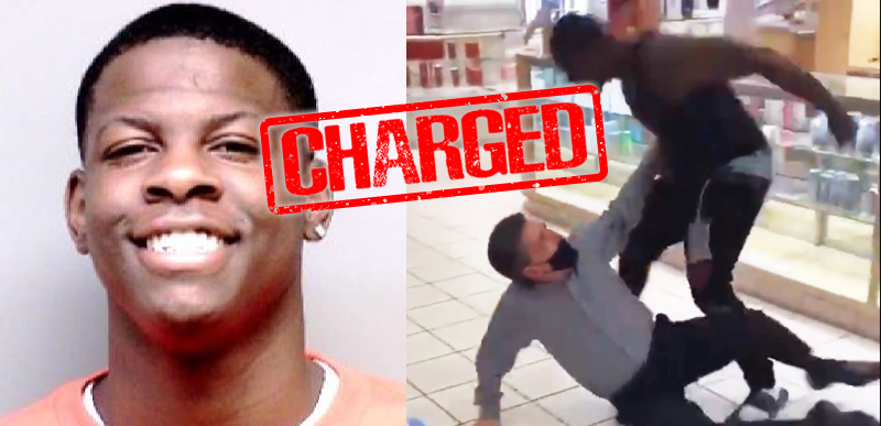 BREAKING: Black man caught on video BEATING white Macy's worked charged with FELONY ASSAULT in racial attack