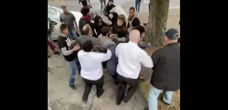 DISGUSTING: Black Lives Matter mob harasses and attacks church members in Troy, New York