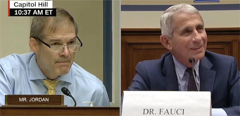 WATCH: Jim Jordan grills Dr. Fauci on whether protests should be limited over coronavirus transmission