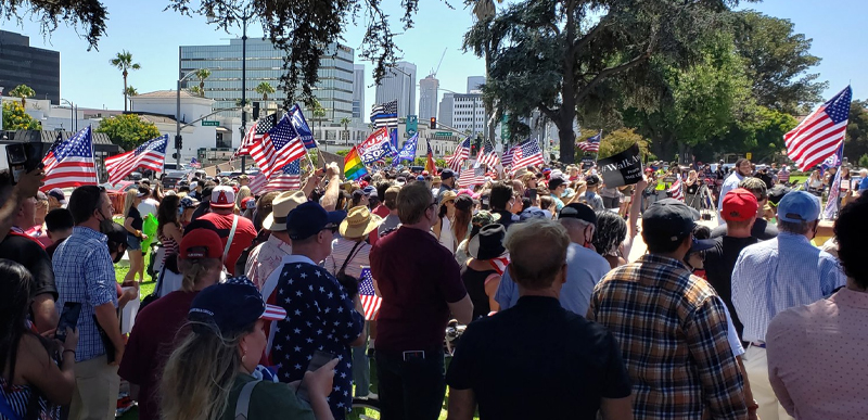 HUNDREDS show up for peaceful 'Rescue America' demonstration that won't make CNN, but the PHOTOS and VIDEO are GREAT