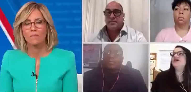 FANTASTIC video of poor old Alisyn Camerota and her face as Minority voters DEVASTATE her with pro-TRUMP remarks