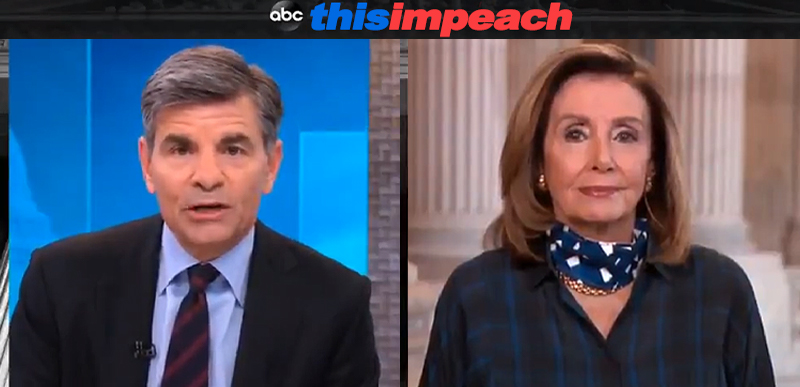 NOT A PARODY: Clintonista George Stephanopoulos asks Nancy if Dems will IMPEACH to stop SCOTUS appointment