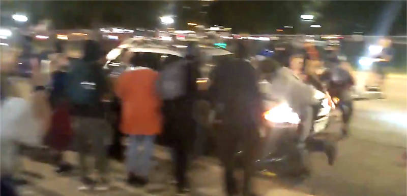 BREAKING: Car plows through a group of BLM protesters after they surround vehicle in Denver!