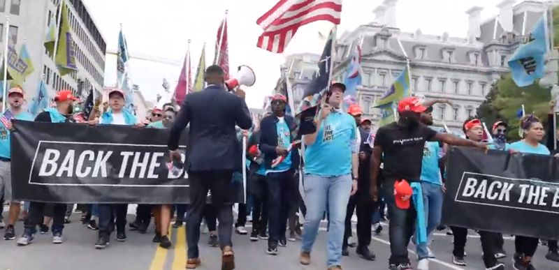 WOW: Watch this Back the Blue/Blexit March in D.C. going on RIGHT NOW following Trump speech!
