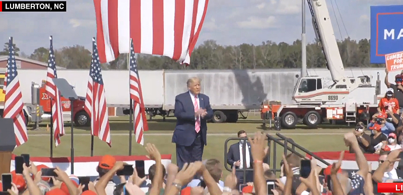 WATCH LIVE: President Trump speaks at THREE campaign events, starting with Lumberton NC