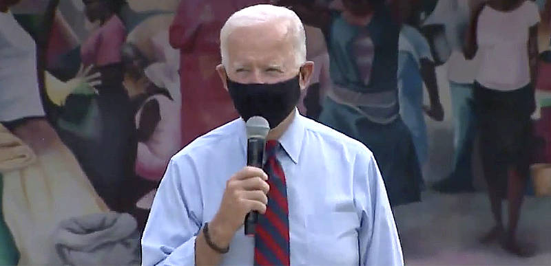 WATCH: Joe Biden telling voters to think about Trump being given the 'death blow' while still in hospital