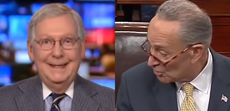 LOL McConnell STUFFS Dems trying to stop Barrett confirmation over COVID and SAD Schumer is blubbering