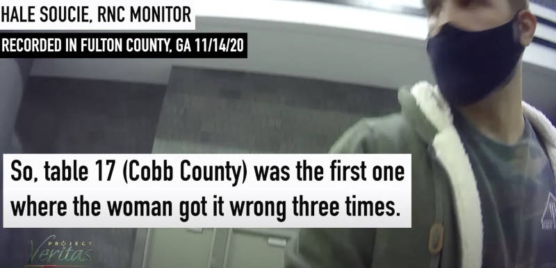 WATCH: James O'Keefe exposes how Georgia recount auditor NOT auditing ballots