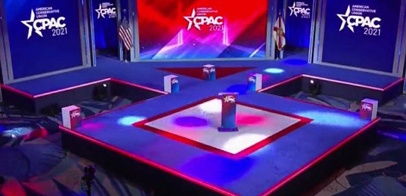 Turns out CPAC 'Nazi' stage was designed by company whose owner is a Biden supporter with many liberal employees