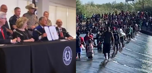 """""""Our border is WIDE OPEN"""": More INSANE footage from Biden's OVERRUN border as Abbot adds $2B to STOP the FLOOD"""